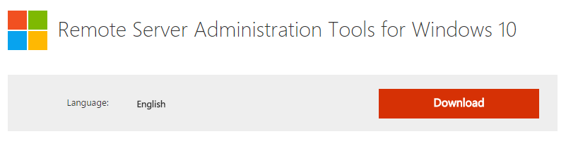Remote Server Administration Tools for Windows 10