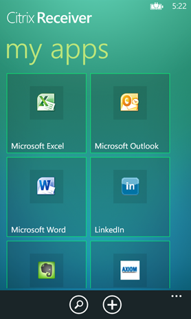 Windows Phone 8 Citrix Receiver my apps