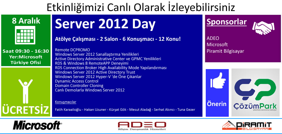 Windows Server 2012 Day – 08.12.2012