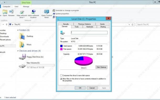 Windows Server 2012'de Disk Cleanup Utility Aktif Edilmesi