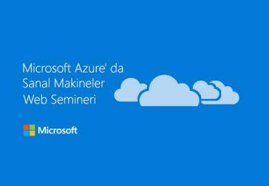 Microsoft Azure' da Sanal Makineler Web Semineri